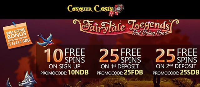 Get FREE Spins Upon Signup at Conquer Casino