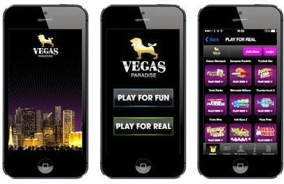 Mobile Phone Games at Vegas Paradise