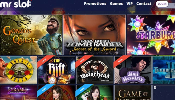 Mr Slot Casino Online Lobby With a Generous Choice Available