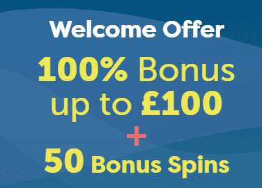 Welcome Deals 100% + Extra Spins