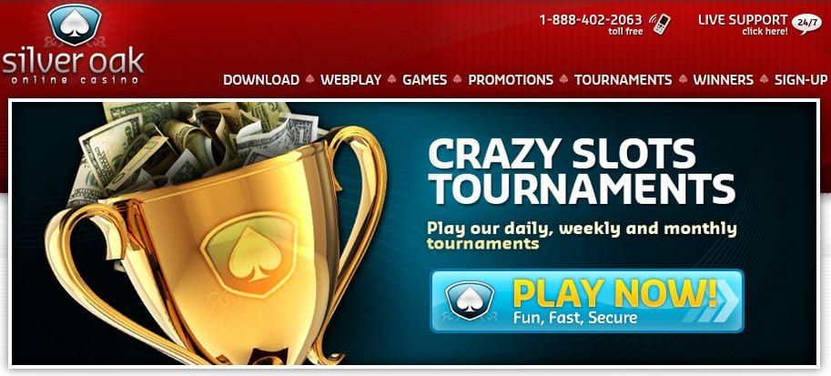 Silver Oak Casino - Compete Against Others Online