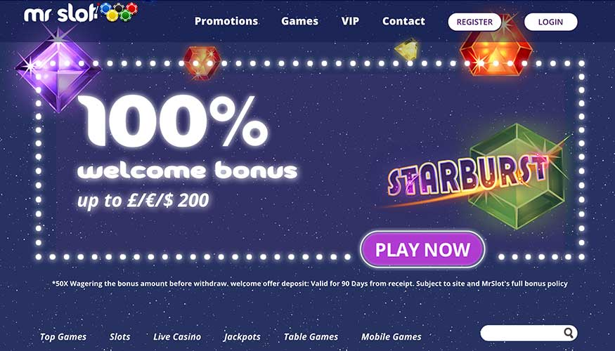 Welcome Offers and Bonus at Mr Slot Casino