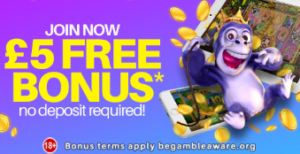 Play Today and Claim £5 Completely Free Bonus