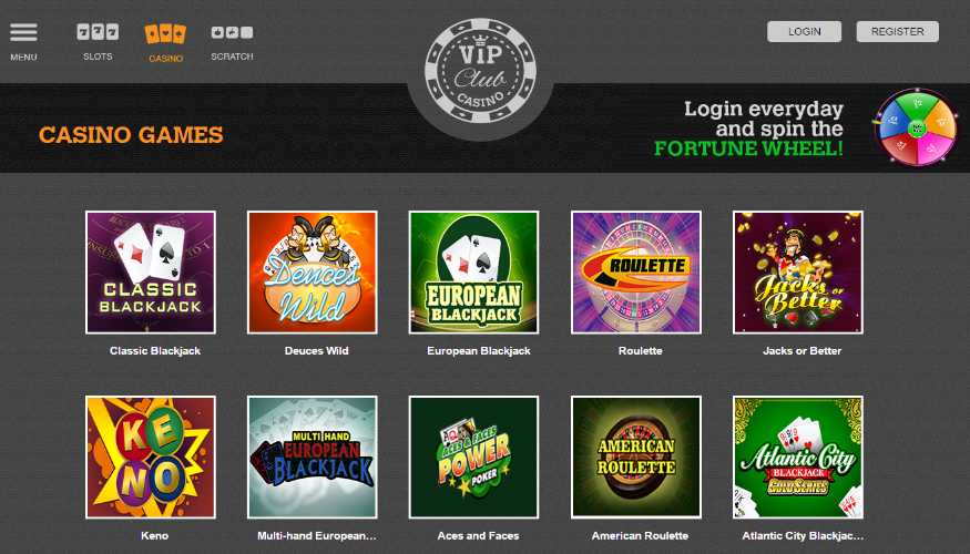 A Variety of Online Slot Games at VIP Club