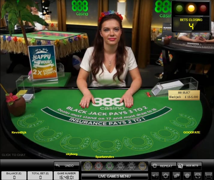 Live Dealers Ready to Take Bets at 888 Casino