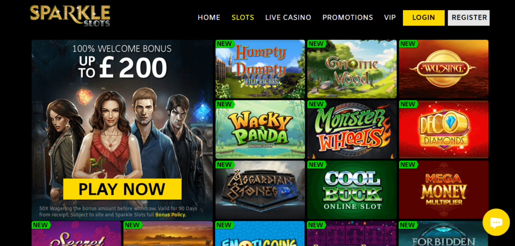 Sparkle Slots Online Casino Games