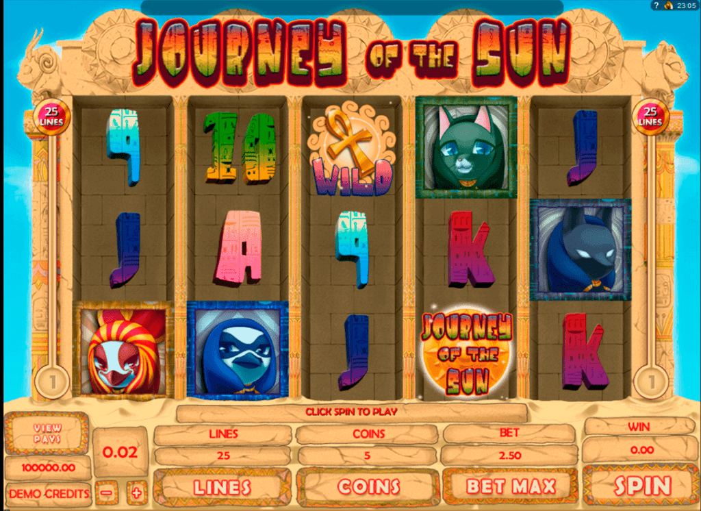Featuring Journey of the Sun and Many Other Great Slot Games