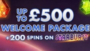 Get an Amazing Offer of Up to £500 Welcome Package + 200 Spins
