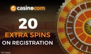 Get a Great Bonus of 20 Free Spins at Casino.com