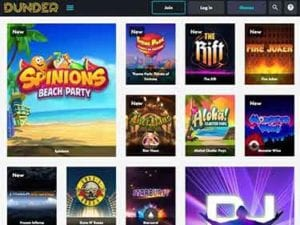 A Large Choice of Slots Games to Play at Dunder Casino