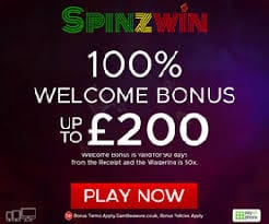 Get up to £200 Welcome at Spinzwin