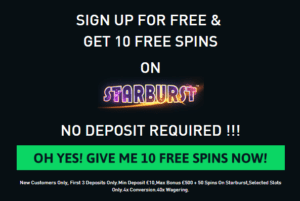 Sign Up at TheOnlineCasino and Get 10 Free Spins No deposit Needed