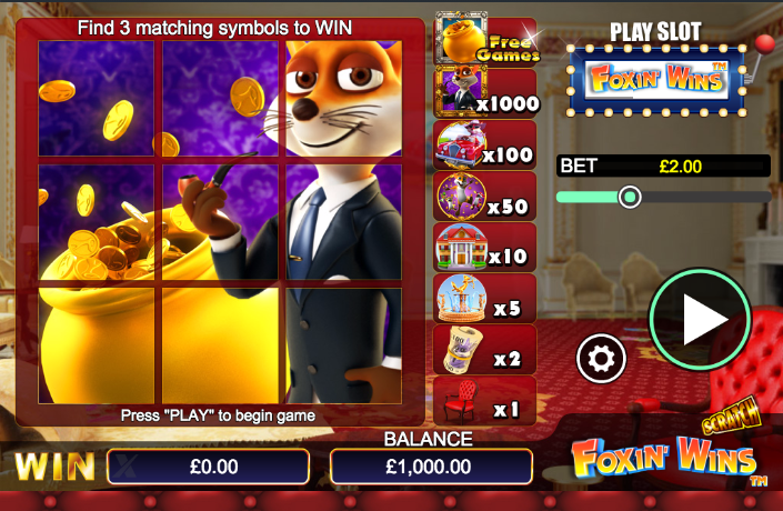 Foxin Wins is a Great Game to Play with Multiple Paylines!
