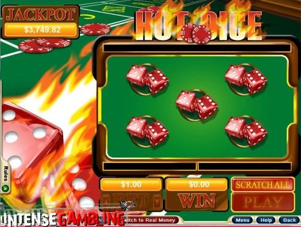 Scratch Away Hot Dice with Potential for Massive Progressive Jackpots