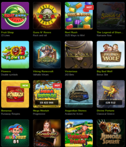 Enormous Choice of Games & Slots at ComeON Casino
