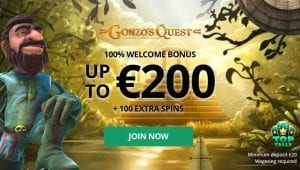 Up to £200 to Play On Gonzo's Quest or Your Choice of Game