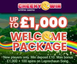 Get up to £1000 Wecome Bonus Today at Cheeky Win Casino
