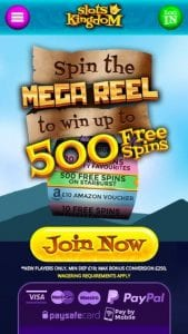 Spin the Reel on Mobile to Win 500 Bonus Spins