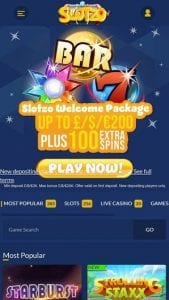A Fully Optimised Mobile Interface Has Been Provided by Slotzo Casino