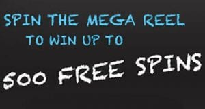 Amazon Vouchers and Free Spins are Prizes on the Mega Reel