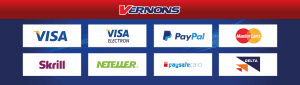 Popular Payment Methods Available at Vernons Casino