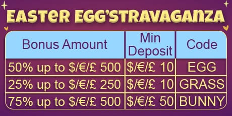 Casino Big Apple Easter Offer Table