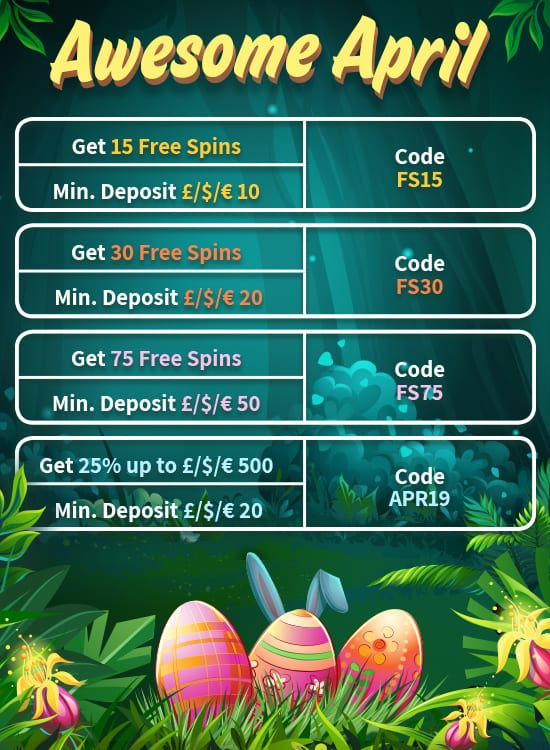 Awesome April Offers Table
