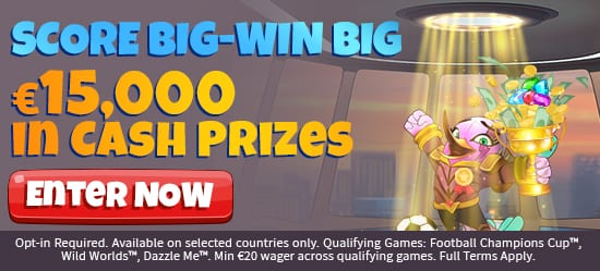 Score Big Win Big - Many Huge Cash Prizes